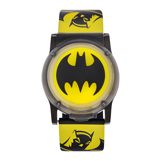 Batman Boys Digital Yellow Strap Watch-Bat4612jc