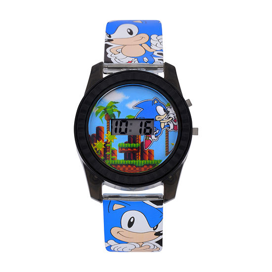 Sonic Sonic the Hedgehog Boys Blue Strap Watch-Snc4008jc