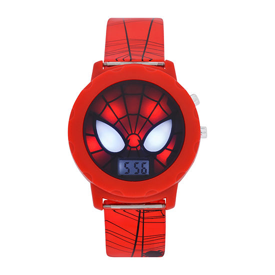 Marvel Marvel Boys Digital Red Strap Watch-Spd4421jc