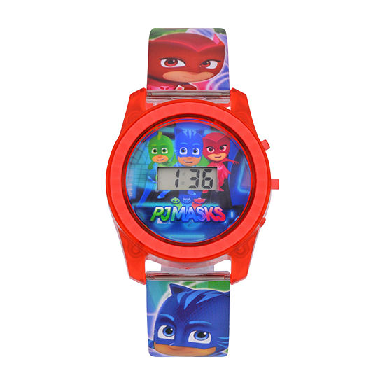 PJ Masks Boys Digital Red Strap Watch-Pjm4027jc