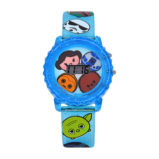 Star Wars Boys Digital Blue Strap Watch-Swt4006jc