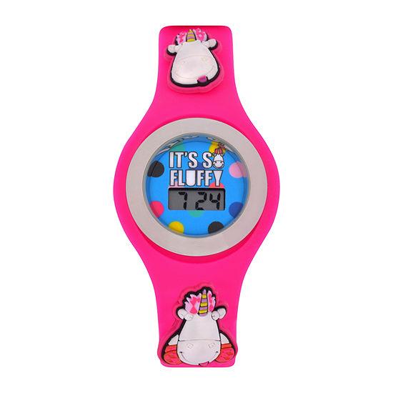 Despicable Me Girls Digital Pink Strap Watch-Dsm4016jc