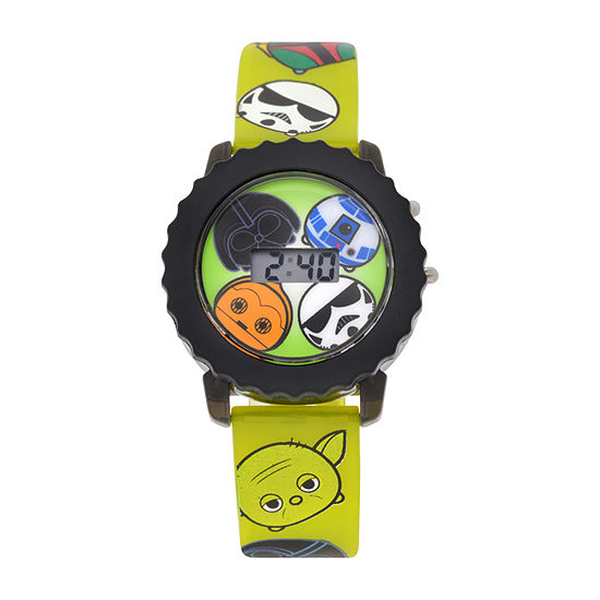 Star Wars Boys Digital Green Strap Watch-Swt4009jc
