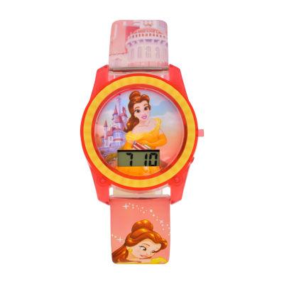 Disney Princess Girls Multicolor Strap Watch-Pn4049jc