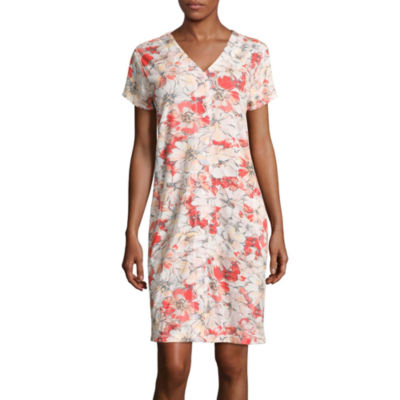 Collette By Miss Elaine Short Sleeve Robe
