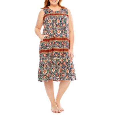 Knit Pattern Nightgown-Plus