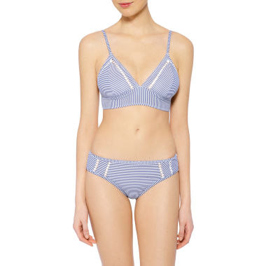 jcpenney.com | Arizona Stripe Triangle Swimsuit Top or Hipster Bottom-Juniors