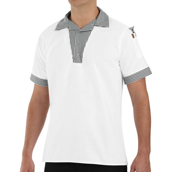 Chef Designs® Snappy V-Neck Chef Shirt