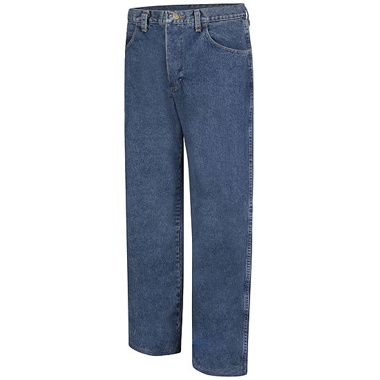 Bulwark Pej6 Mens Stone Washed Loose Fit Jeans Big