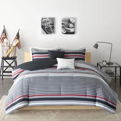 Intelligent Design Jason Stripes Comforter Set