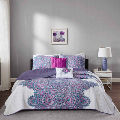 Intelligent Design Katarina Bohemian Coverlet Set