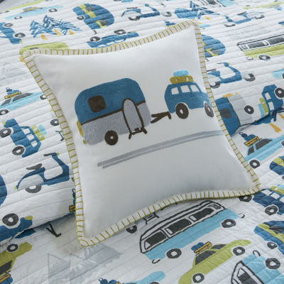 Ink And Ivy Kids Road Trip  Coverlet Set