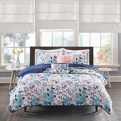 Intelligent Design Tiffany Floral Coverlet Set