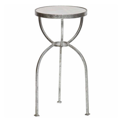 Three-Legged With Granite Top Chairside Table