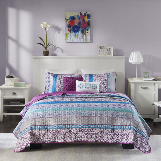 Intelligent Design Adley Stripes Coverlet Set