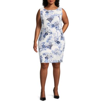 Alyx Sleeveless Print Sheath Dress - Plus