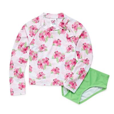 Solo Floral Rash Guard Set - Preschool