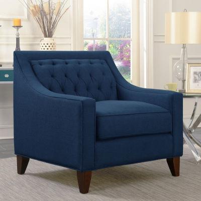 Aberdeen Navy Linen Club Chair