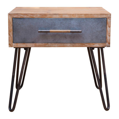 FirsTime Vaughn Hairpin 1-Drawer End Table