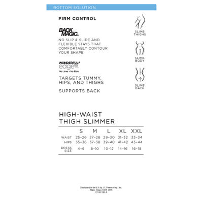 Ambrielle Wonderful Edge® Back Magic® High-Waist Firm Control Thigh Slimmers - 129-3016