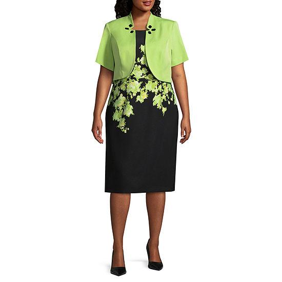 Maya Brooke Embellished Jacket Dress - Plus