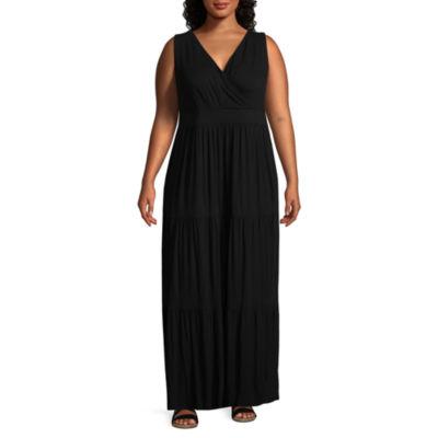 St. John's Bay Sleeveless Maxi Dress-Plus