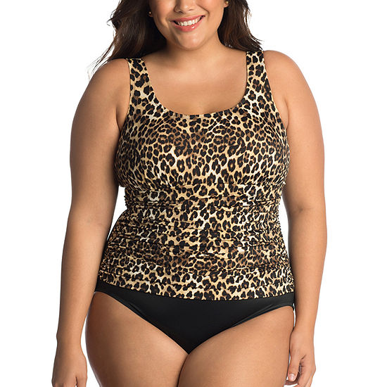 Trimshaper Control Animal One Piece Swimsuit Plus