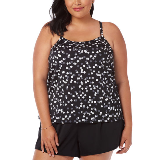 Trimshaper Control Dots One Piece Swimsuit Plus