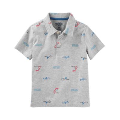 Oshkosh Short Sleeve Knit Polo Shirt - Preschool Boys