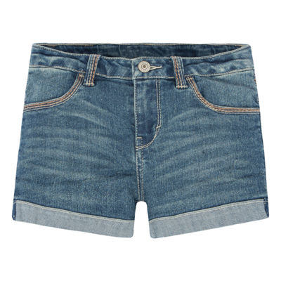 Levi's Plus Dark Thick Stitch Shortie Shorts - Big Kid Girls Plus