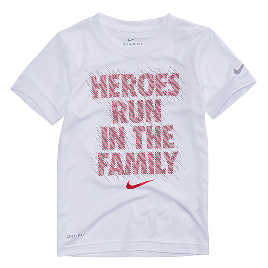 Nike Boys Crew Neck Short Sleeve Dri-Fit Graphic T-Shirt - Preschool