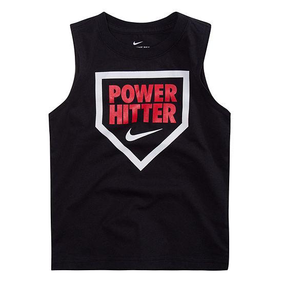 Nike Boys Crew Neck Sleeveless Muscle T-Shirt - Preschool