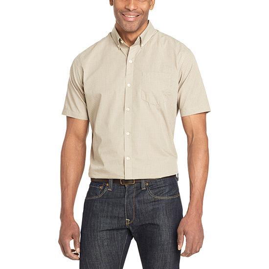 Van Heusen Mens Short Sleeve Button-Front Shirt