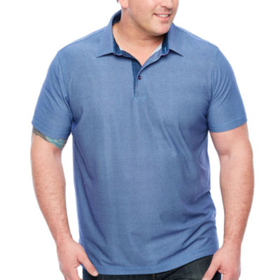 Society Of Threads Short Sleeve Pattern Pique Polo Shirt Big and Tall
