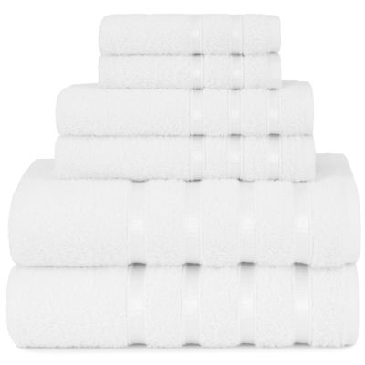 Briarwood Home Viscose Stripe 6 Piece Towel Set