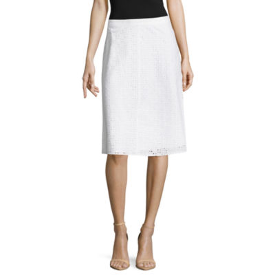 Liz Claiborne Eyelet A-Line Skirt