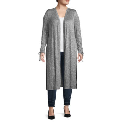 Bold Elements Long Sleeve Cardigan - Plus