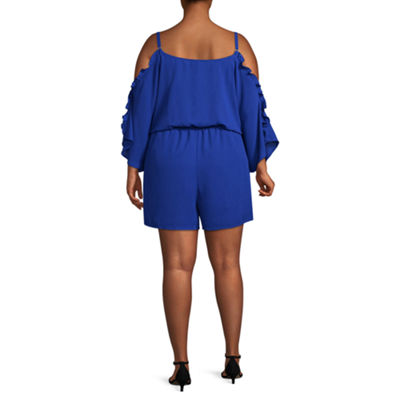 Bold Elements Short Sleeve Romper - Plus