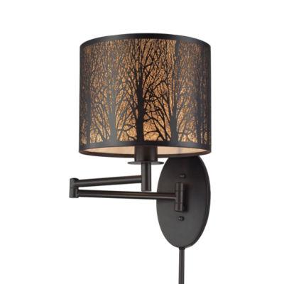 Woodland Sunrise 1 Light Swingarm In Aged Bronze