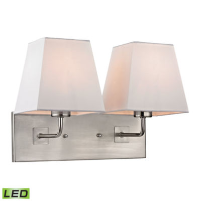 Beverly 2 Light LED Wall Sconce In Brushed Nickel