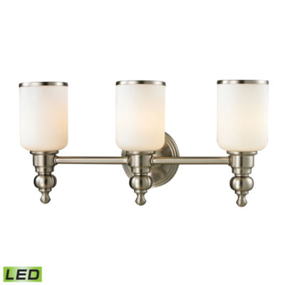 Bristol Way 3 Light LED Vanity with Opal White Glass