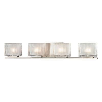 Chiseled Glass 4 Light Vanity