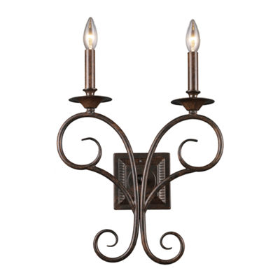 Gloucester 2 Light Wall Sconce In Weathered Bronze