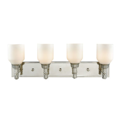 Baxter 4 Light Vanity With Opal White Glass