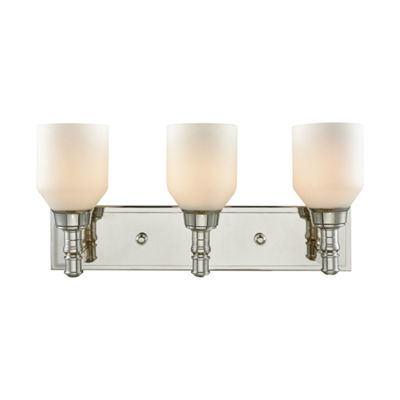Baxter 3 Light Vanity With Opal White Glass
