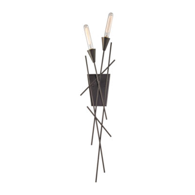 Sticks 2 Light Wall Sconce In Oil Rubbed Bronze