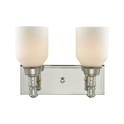 Baxter 2 Light Vanity With Opal White Glass