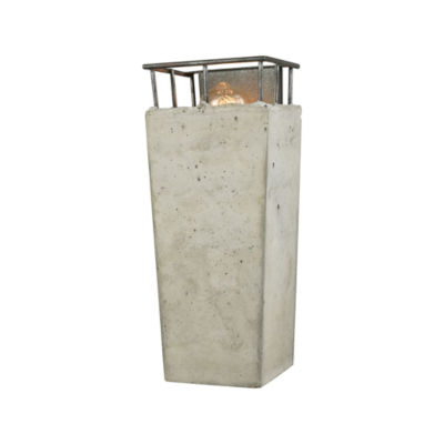 Brocca 1 Light Wall Sconce In Silverdust Iron With Concrete Shade