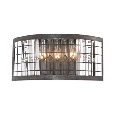 Nadina 3 Light Wall Sconce In Silverdust Iron