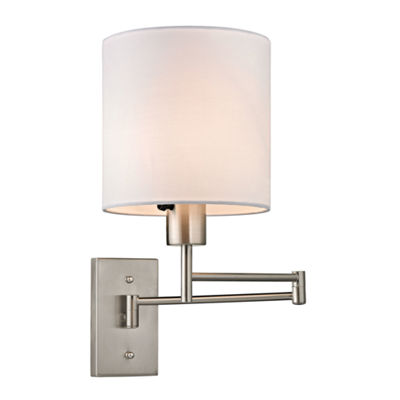 Carson 1 Light Swingarm Wall Sconce In Brushed Nickel